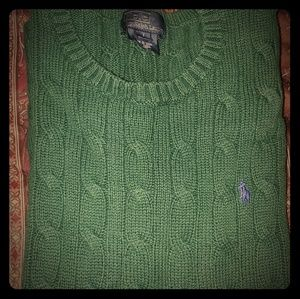 Auth Ralph Lauren Polo Cable Knit Sweater (7)